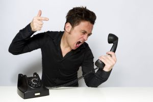 Man shouting on the phone