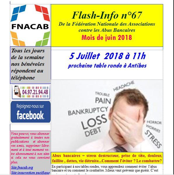 Capture flash info n° 67